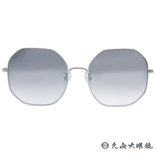 LASH 墨鏡 BLISS WH01 (白-銀) 多邊形 韓國 淺水銀 太陽眼鏡 久必大眼鏡