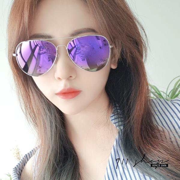 Lilac.多彩水銀反光亮鏡金屬飛行員眼鏡偏光太陽眼鏡【f5078】911 SHOP