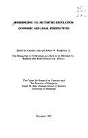 二手書《Modernizing U.S. Securities Regulation: Economic and Legal Perspectives》 R2Y ISBN:1556237774