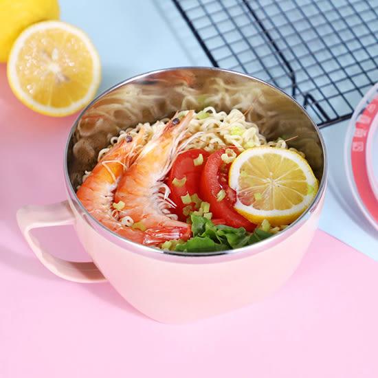 304不鏽鋼 泡麵碗 便當盒 雙層隔熱碗 湯碗 304不銹鋼 帶蓋 廚房 900ML 【A028】慢思行