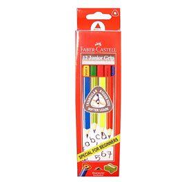 Faber_castell大三角鉛筆 12支入+削筆器 *116527