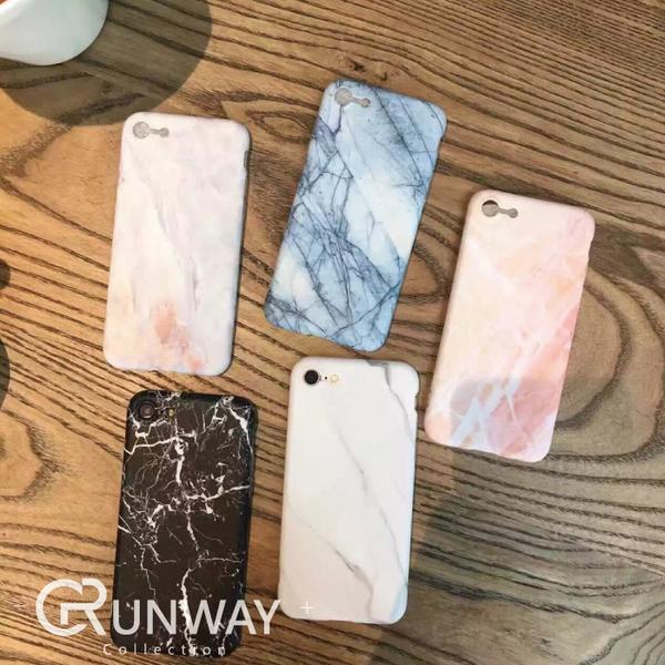 【R】簡約五代 大理石 蘋果 iphone 7 8 Plus 韓國 手機殼 6S 情侶 軟殼 全包 防摔