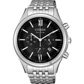 CITIZEN 星辰 亞洲限定光動能計時手錶-黑x銀/42mm CA4410-84E