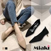 高跟鞋.小資韓風針織尖頭鞋