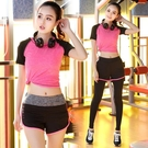 瑜珈服 韓版春季運動套裝女健身短袖兩件套瑜珈跑步健身服速乾瑜伽服 16【618特惠】