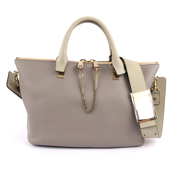 【CHLOE】Baylee Small two-tone tote 小牛皮 (羊毛灰色) 3S0169 882 06T(OUTLET)