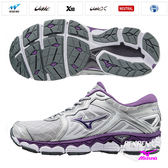 美津濃 MIZUNO 女跑鞋 WAVE SKY (灰紫) 寬楦 全腳掌波浪片款路跑鞋 J1GD171269【 胖媛的店 】
