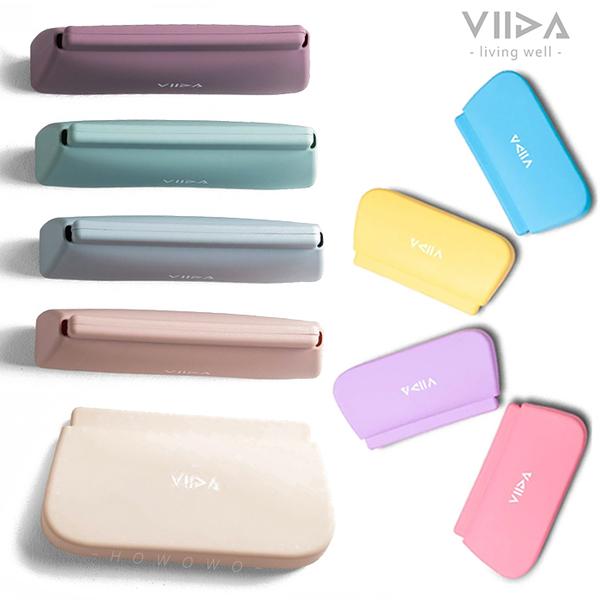 VIIDA Chubby 防水矽膠收納袋 (L) 馬卡龍色 兒童餐具收納袋 0541