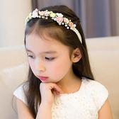髮飾兒童花環頭花兒童禮服頭飾花童花冠女童髮卡韓國公主禮服配飾演出 小天使