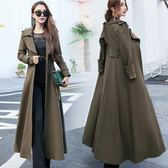 顯瘦修身超長款風衣女過膝通勤OL2018春秋季新款時尚韓版大衣外套洛麗的雜貨鋪