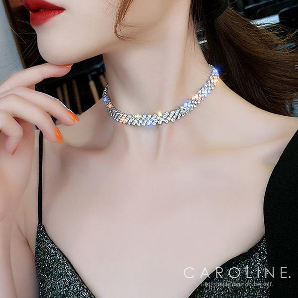 《Caroline》★韓國熱賣造型時尚   奢華、華麗設計感項鍊71325