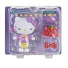 Sanrio 換裝娃娃組 擺飾玩偶 公仔 HELLO KITTY 草莓洋裝 紫_261165N