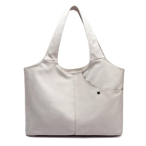 帆布肩背包-純色簡約實用休閒女手提包4色73wa13【時尚巴黎】