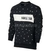 Nike T恤 SB X Ch Everett Crew 上衣 滑板 男款 黑 大學服【PUMP306】 845377-010