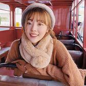 圍脖 圍巾女秋冬純色兔毛軟妹保暖毛毛韓版毛球可愛毛絨圍脖百搭學生 宜室家居