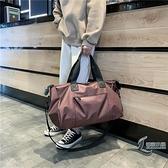 出差短途旅行包包女手提男輕便大容量行李袋子側背斜挎運動健身包【邻家小鎮】