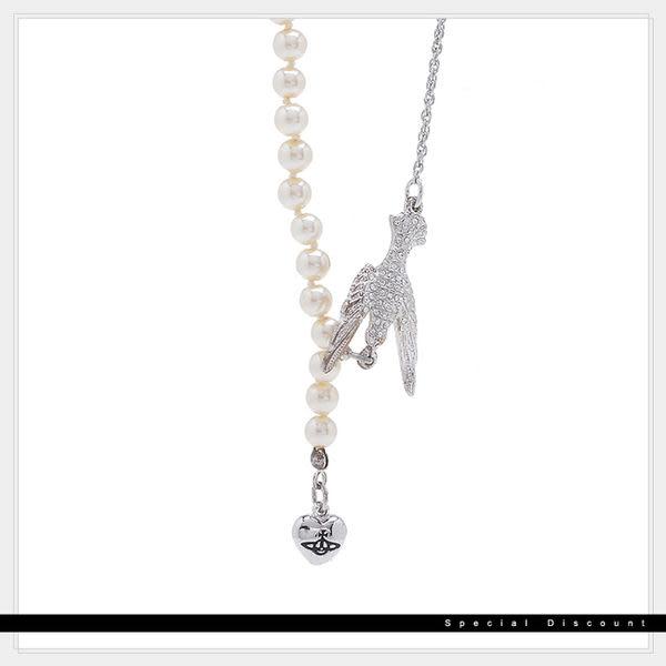 Vivienne Westwood • 絕版項鍊-珍珠+小鳥