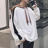 秋冬新款潮流青少年加絨連帽衛衣套頭寬鬆學生韓版個性印花外套男    易家樂