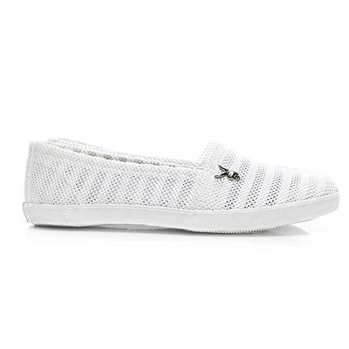 PLAYBOY 清新洞洞 網布懶人鞋-白(Y5207)