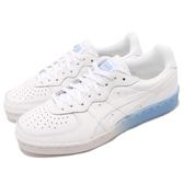 Asics 休閒鞋 Tiger GSM 白 藍 皮革鞋面 漸層中底 基本款 運動鞋 女鞋【PUMP306】 1182A035-100