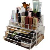 透明抽屜式疊加化妝品收納盒透明首飾桌面創意置物架【限量85折】