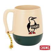 CHUMS 日本製 露營野餐 圓桶馬克杯 棕/苔綠 (450ml) CH621000B004