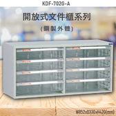 【100%台灣製造】大富KDF-702G-A 開放式文件櫃 效率櫃 檔案櫃 文件收納 公家機關 學校 醫院 耐重