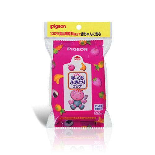 【嬰之房】Pigeon貝親 手口專用柔濕巾22片隨手包(1入)