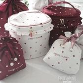 日系愛心化妝包網紅便攜大容量可愛少女心手桶包 多功能收納袋 【韓語空間】