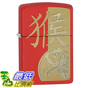 [8美國直購] Zippo 28955 十二生肖猴年 打火機 Chinese Zodiac Lighters - Red Matte Year of the Monkey