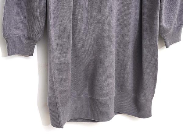 獨家下殺↘3折[H2O]圓領釘珠設計中長版針織毛衣洋裝 - 紫/米白/灰色 #9650010