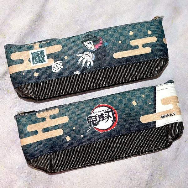 日本製 鬼滅之刃 無限列車 魘夢 筆袋 筆盒 文具袋 日本販售正版 POLY製
