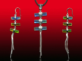 鹿港窯~開運古法水晶琉璃銀飾【項鍊耳環組】三生緣 附精美包裝◆免運費送到家