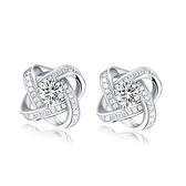 耳環 925純銀鑲鑽銀飾-創意設計生日情人節禮物女飾品73dy181【時尚巴黎】
