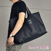 男士行李袋手提短途旅行包大容量行李包尼龍防水旅行袋休閒旅游包 DR13340【Rose中大尺碼】