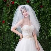 新娘短款頭紗純紗頭飾