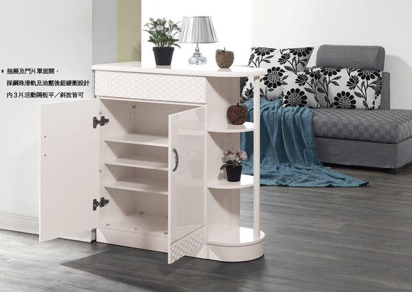 【南洋風休閒傢俱】組合櫃系列 -實木玄關櫃 收納  龐姆隔間白色鞋櫃-正向(JH561-5)