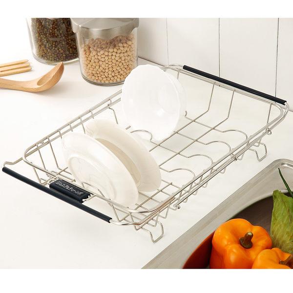 瀝水架 碗盤架 廚房收納【D0019】不鏽鋼兩用流理台伸縮水槽架 MIT台灣製 完美主義