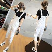 吊帶寬褲夏季新款女裝韓版時尚休閒寬鬆褲子 JD3598【KIKIKOKO】