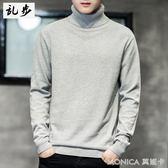 毛衣 高領毛衣男冬季針織衫衣服男士修身毛衫潮流純棉打底衫上衣 莫妮卡小屋