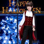 吸血鬼伯爵角色扮演恐怖男孩套裝僵尸鬼的衣服 街頭布衣