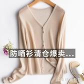 防曬衣女短款外搭夏季外套2020新款超仙冰絲針織空調衫薄款小開衫 EY11458『3C環球數位館』