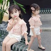 女童夏裝新品短袖T恤洋氣兒童雪紡半袖上衣 5寶寶娃娃領打底衫 88折下殺