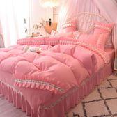 網紅公主風棉質1.5床裙四件套全棉床罩被套1.8/2米單雙人床上用品