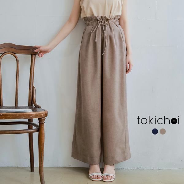 東京著衣-tokichoi-慵懶休閒綁帶花苞寬褲-S.M.L(190664)