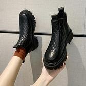短靴女冬加絨棉靴子2020新款時尚韓版百搭厚底短筒靴低幫馬丁靴潮