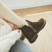 馬丁靴 短靴女粗跟韓版百搭復古春秋冬季真皮磨砂內增高靴子馬丁靴英倫風【韓國時尚週】