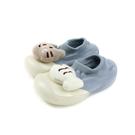 兒童鞋 懶人鞋 襪鞋 淺藍色 貓與魚 小童 2012 no021 11.5~12.5cm