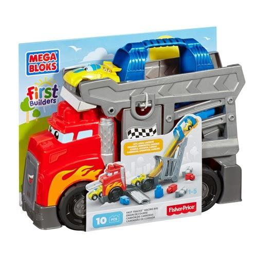 【奇買親子購物網】MEGA BLOKS-美高卡車軌道組