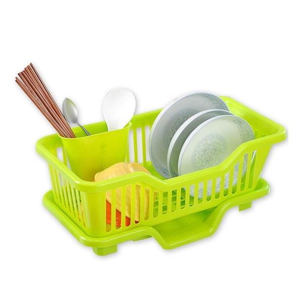 【DR460】橫式妙用滴水碗盤架『筷子架可外掛』 碗盤滴水架 碗筷餐具架 EZGO商城